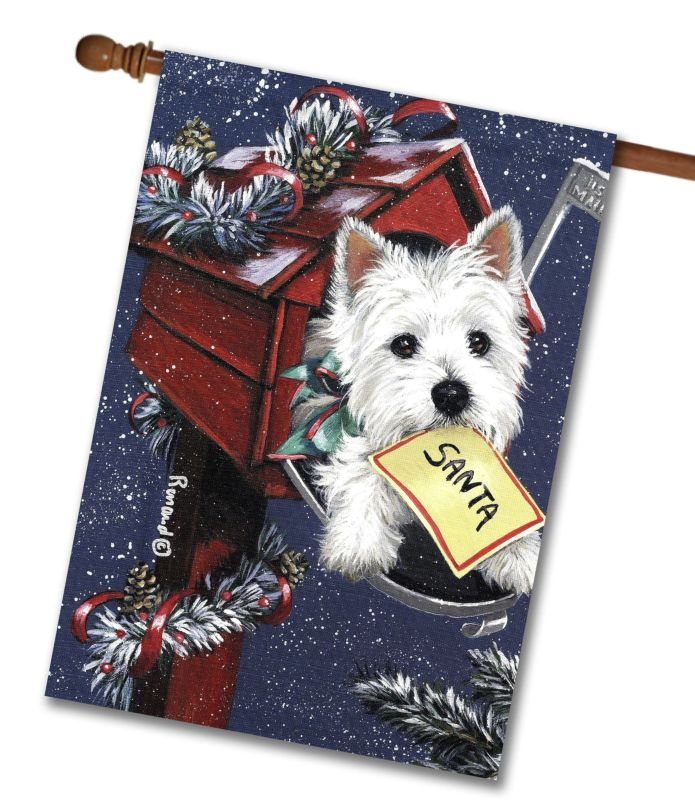 west highland terrier zoe u0026 39 s list - house flag - 28 u0026 39  u0026 39  x 40 u0026 39  u0026 39