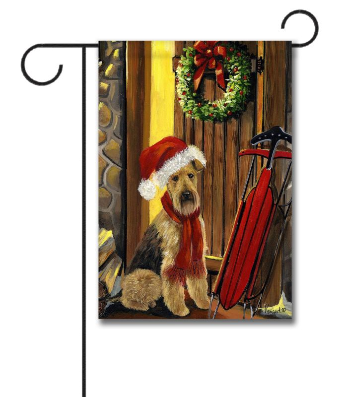 Airedale Terrier Welcome Home Garden Flag 12 5 39 39 X 18