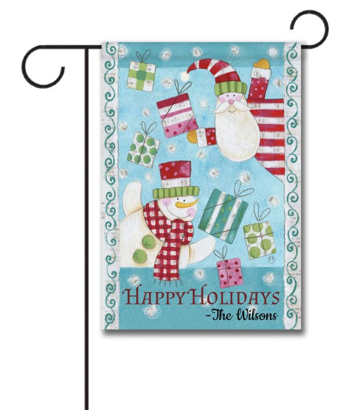 It 39 S Snowing Gifts Personalized Garden Flag 12 5 39 39 X