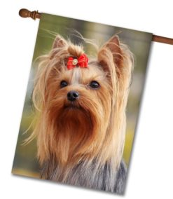 Yorkie Photo House Flag Yorkie Dog Breed