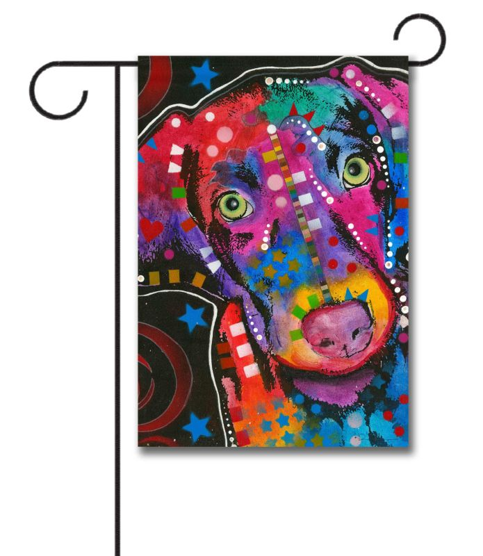 Abstract Puppy Garden Flag 12 5 X 18