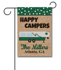 Happy Campers Fifth Wheel Garden Flag