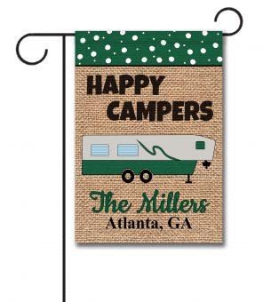 Happy Campers Fifth Wheel Garden Flag