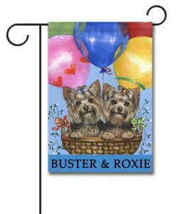 Personalized Yorkshire Terriers Flag Garden