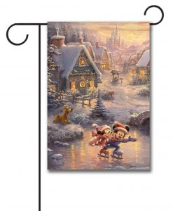 Mickey and Minnie Christmas Garden Flag