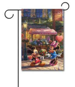 Mickey Mouse and Minnie Mouse Love Disney Garden Flag