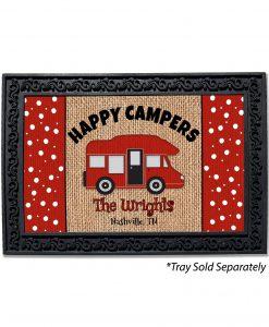 Personalized Burlap Camping Doormat