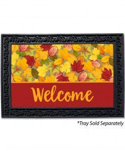 Fall Leaf Welcome Doormat