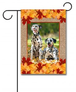 Fall Burlap Photo Garden Flag