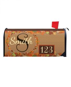Fall Leaves Monogram Mailbox Cover