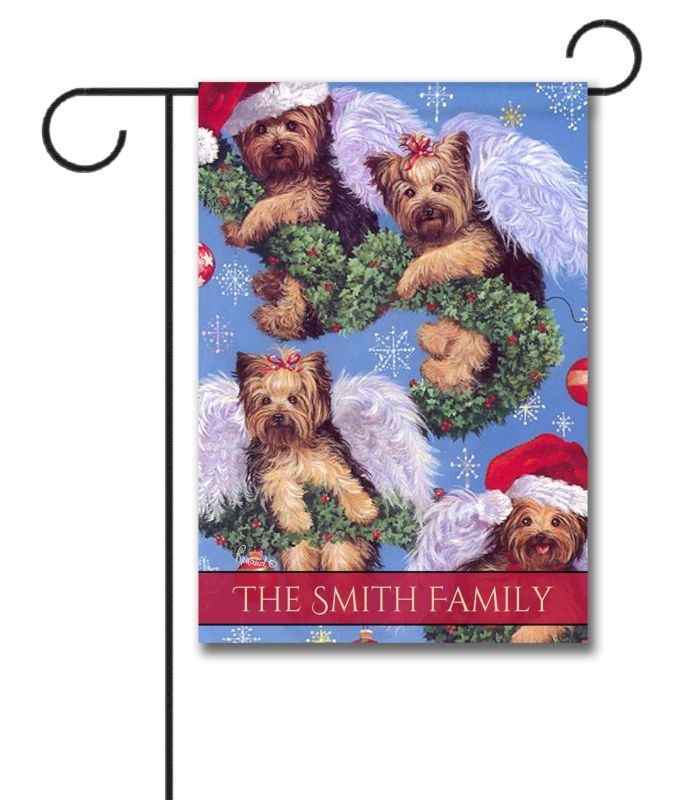 Personalized Yorkshire Terrier Spread The Cheer Garden Flag 12 5
