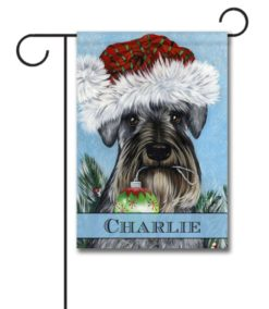 Personalized Ornament Schnauzer Christmas Garden Flag