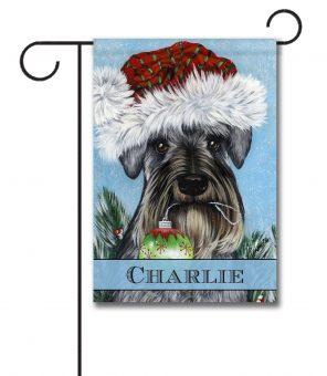 Personalized Ornament Schnauzer Christmas Garden Flag