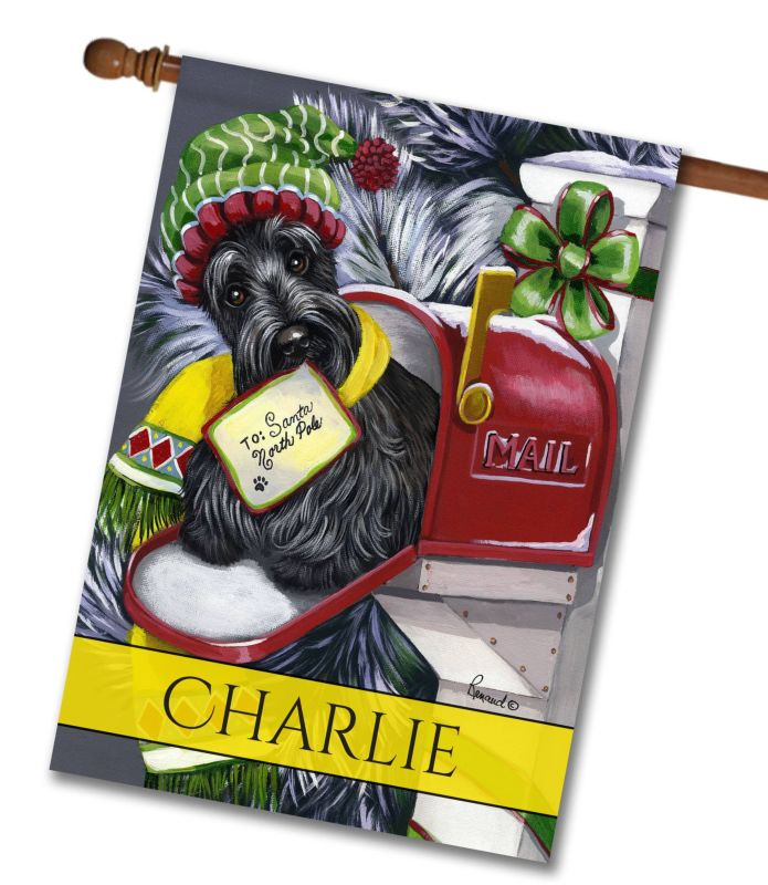 Personalized Scottish Terrier Letter to Santa - House Flag - 28\'\' x ...