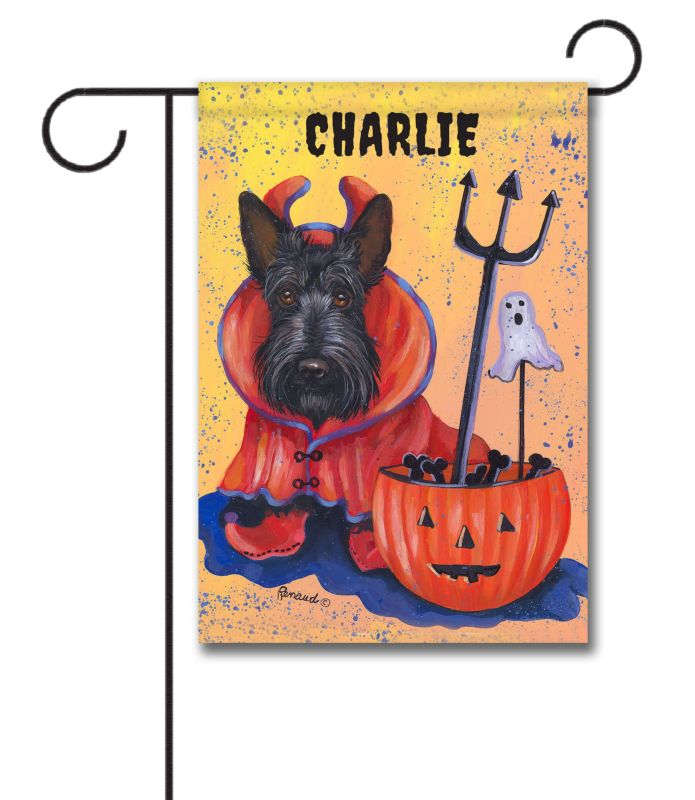 personalized scottish terrier boo hoo - garden flag - 12.5'' x 18