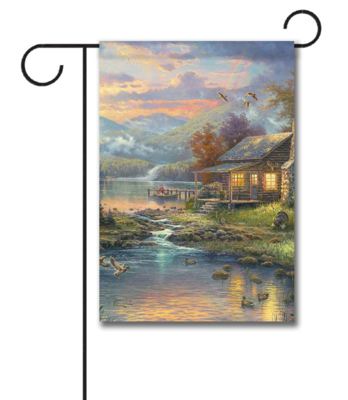 Nature S Paradise Garden Flag 12 5 X 18 Custom