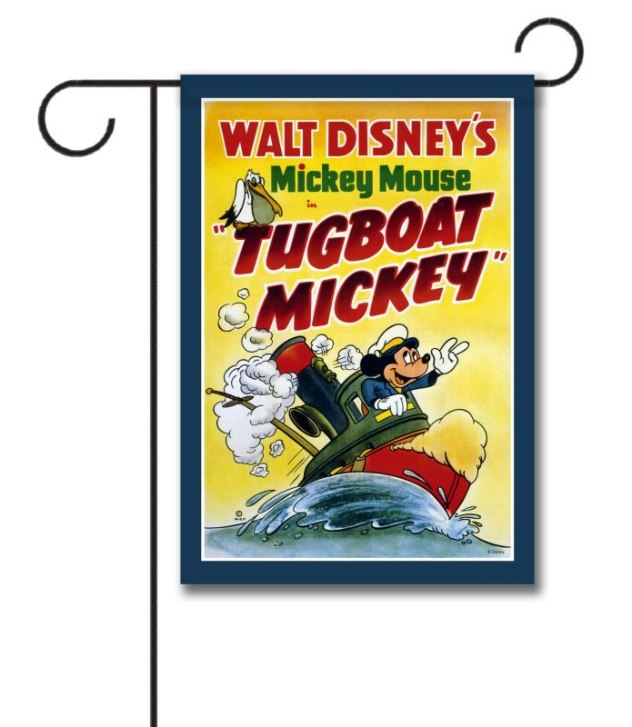 Tugboat Mickey Classic Poster Garden Flag 12 5 X 18
