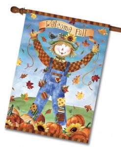 Fall Scarecrow House Flag