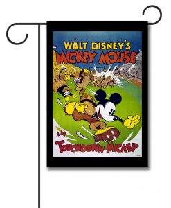 Football Mickey Mouse Garden Flag