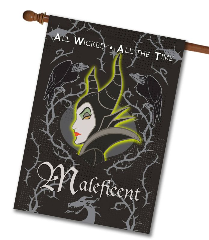 Maleficent Wicked All The Time House Flag 28 X 40