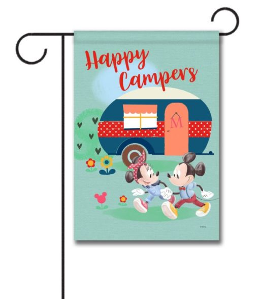 Mickey and Minnie Disney Camper Garden Flag