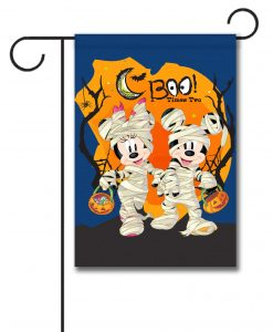 Mickey and Minnie Halloween Garden Flag