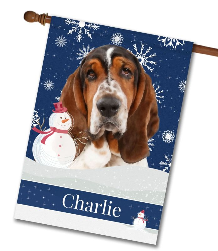 Personalized Christmas Snowflakes Basset Hound House