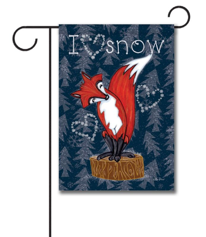 i love snow fox - garden flag - 12 5 u0026 39  u0026 39  x 18 u0026 39  u0026 39