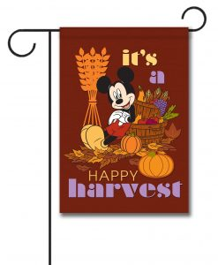 Disney Harvest Garden Fall Mickey Mouse Flag