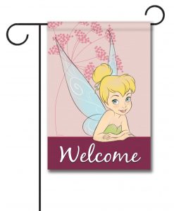 Tinkerbell Welcome Disney Garden Flag