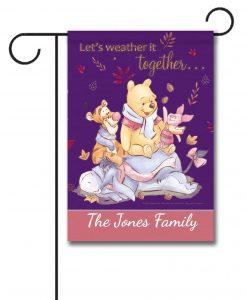 Winnie the Pooh Disney Fall Garden Personalized Disney Flag