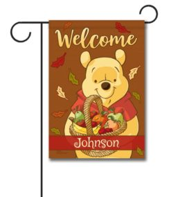 Winnie the Pooh Fall Welcome Garden Personalized Disney Flag