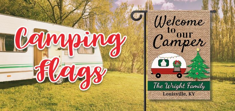 Camping Personalized Flags