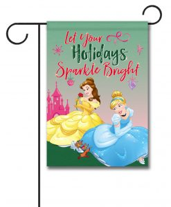 Disney Princess Garden Christmas Flag