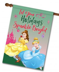 Disney Princess House Christmas Flag