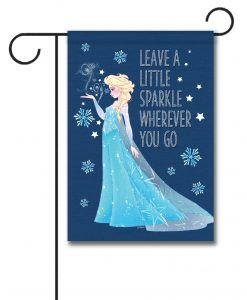 Elsa Frozen Garden Disney Christmas Flag