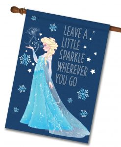 Elsa Frozen House Disney Christmas Flag