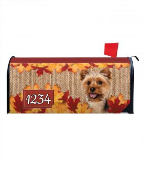 Fall Yorkie Mailbox Cover