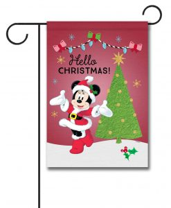 Minnie Mouse Garden Disney Christmas Flag