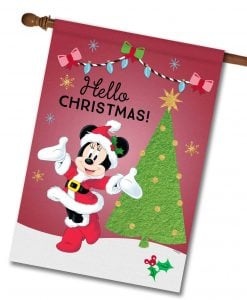 Minnie Mouse House Disney Christmas Flag