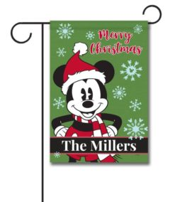 Personalized Mickey Mouse Disney Christmas Garden Flag