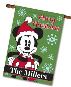 Personalized Mickey Mouse Disney Christmas House Flag