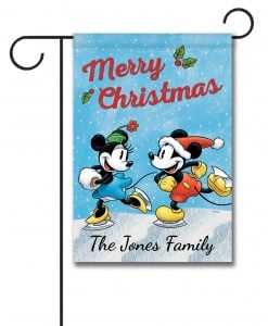 Personalized Mickey Mouse Minnie Mouse Disney Christmas Garden Flag