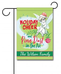 Personalized Tinker Bell Disney Christmas Garden Flag