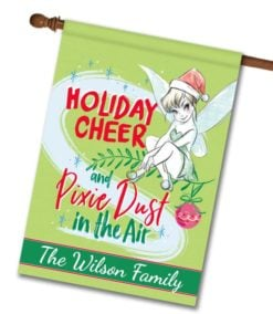 Personalized Tinker Bell Disney Christmas House Flag