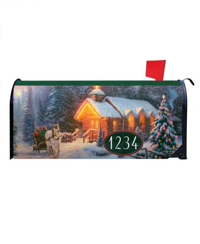 Christmas Chapel Magnetic Mailbox Cover 6 5 Quot W X 8 5 Quot H