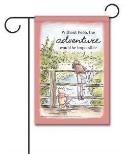 Adventure Winnie the Pooh Disney Garden Flag