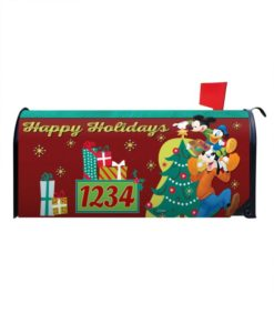 Holiday Mickey Mouse Disney Christmas Mailbox Cover