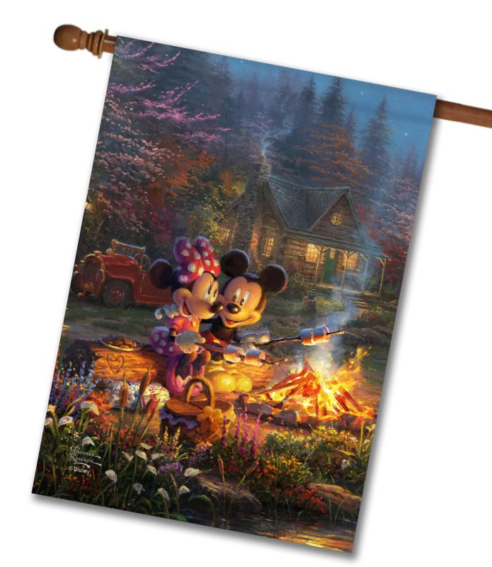 Mickey And Minnie Sweetheart Campfire House Flag 28