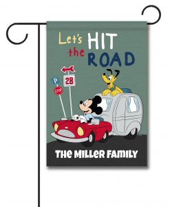 Personalized Mickey Mouse Garden Disney Camper Flag
